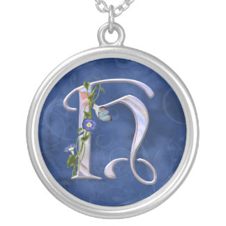 Butterfly Initial H Custom Necklace