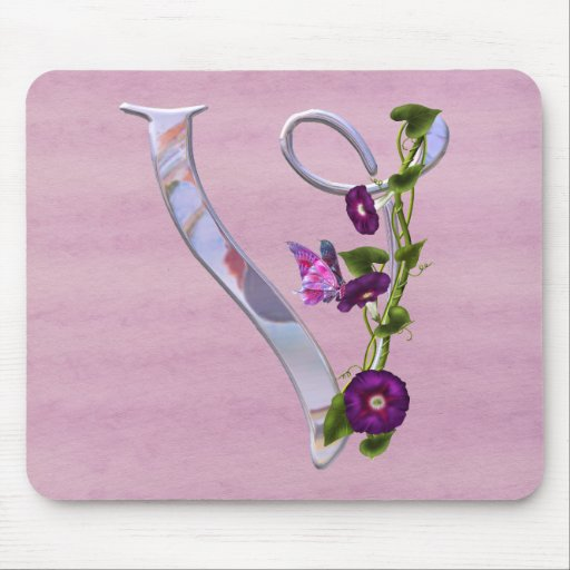 Butterfly Initial V Mousepads