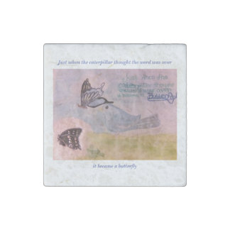 Butterfly inspiration stone magnets