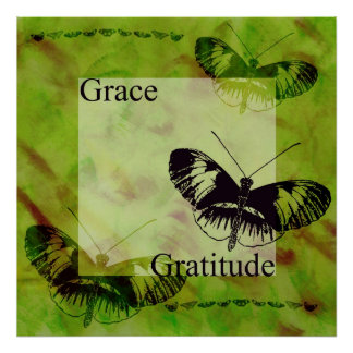 Butterfly Inspirations Grace and Gratitude Poster