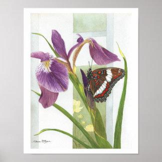 Butterfly & Iris Print