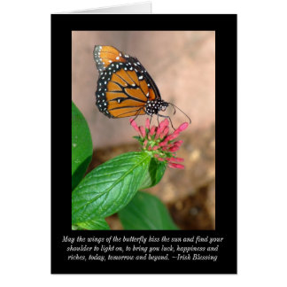 Butterfly Irish Blessing Blank Card