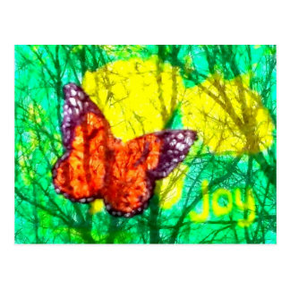 butterfly joy postcard