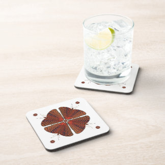 Butterfly Kaleidoscope Square Coaster