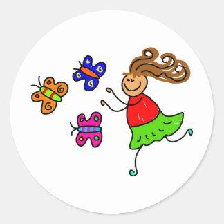 Butterfly Kid Sticker