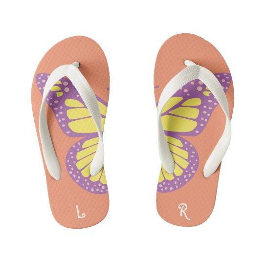 Butterfly Kid's Flip Flops