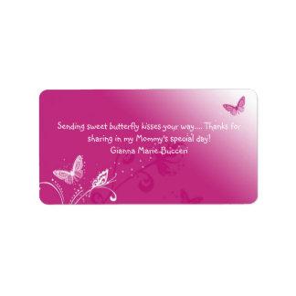 butterfly-kiss-pink-design, Sending sweet butte... Custom Address Labels