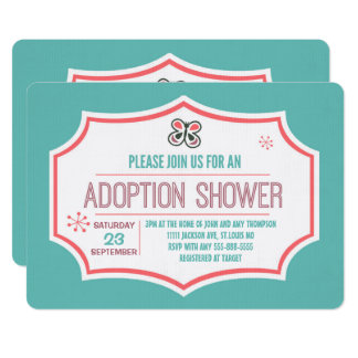 Butterfly Kisses & Adoption Wishes Adoption Shower Card