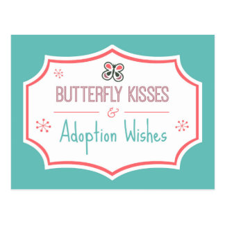 Butterfly Kisses & Adoption Wishes Adoption Shower Postcard