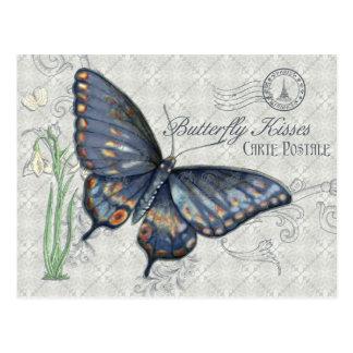 Butterfly Kisses Carte Postale Postcard