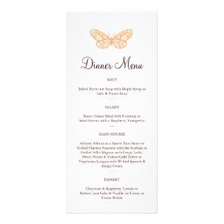 Butterfly Kisses Menu