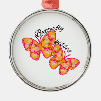 Butterfly Kisses Metal Ornament