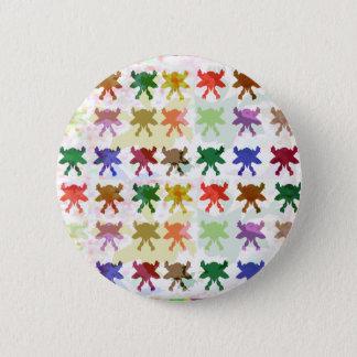 ButterFly Kite Pattern 2 Inch Round Button