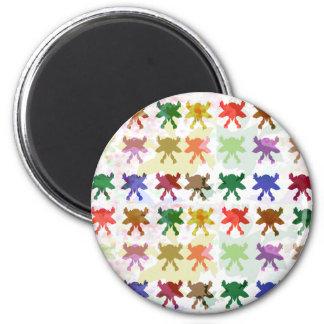 ButterFly Kite Pattern 2 Inch Round Magnet