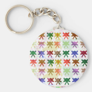 ButterFly Kite Pattern Basic Round Button Keychain