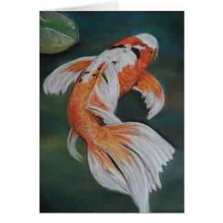Butterfly Koi Fish Art Notecard Note Card
