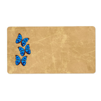 Butterfly Shipping Labels