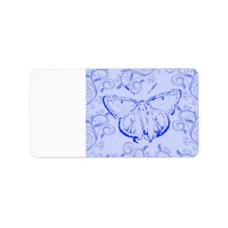 butterfly custom address labels