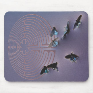 Butterfly Labyrinth Mouse Pad