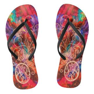 Butterfly Lace Flip Flops