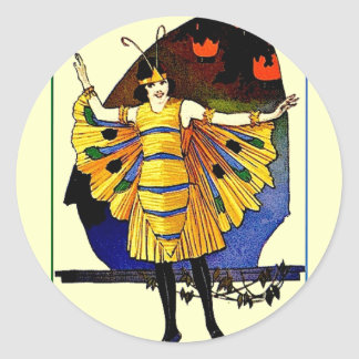 Butterfly Lady Classic Round Sticker