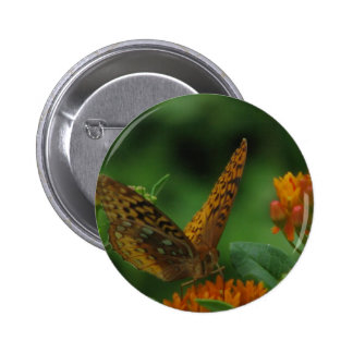 Butterfly Landing 2 Inch Round Button