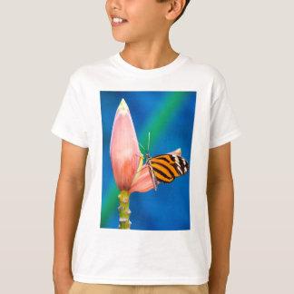 Butterfly Landing on Purple Flower T-Shirt