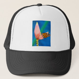 Butterfly Landing on Purple Flower Trucker Hat