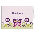 Butterfly Lane with Pretty Flowers Note Cards