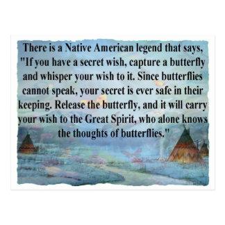 Butterfly legend postcard