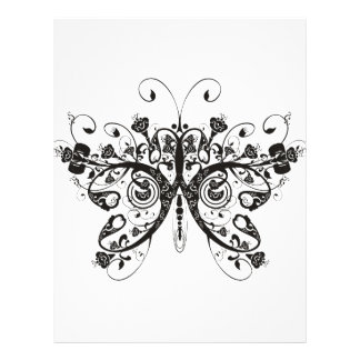 Butterfly Letterhead Template