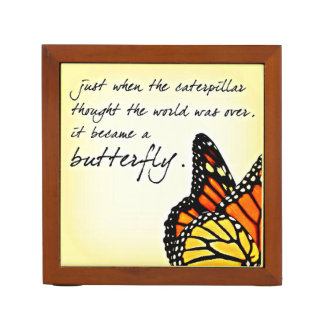 Butterfly Life Struggle Inspirational Quotes Pencil/Pen Holder