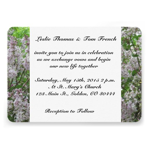 Butterfly Lilacs Wedding Invitations