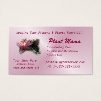 Butterfly & Lily Business Card- customize Business Card