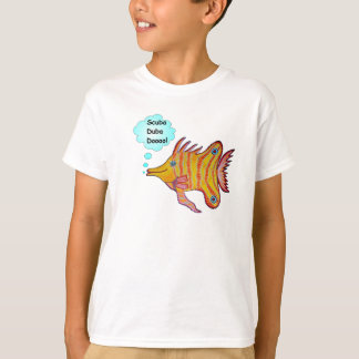 Butterfly LongNose Fish Girls Baby Doll Tee