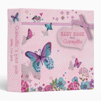 Butterfly Love   Baby Girl   Book Album Binder