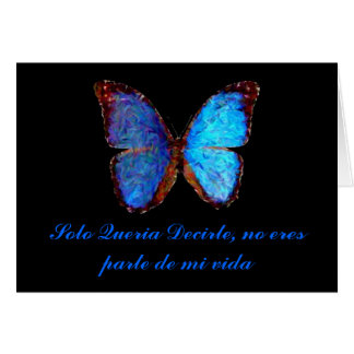 Butterfly love card in Spanish