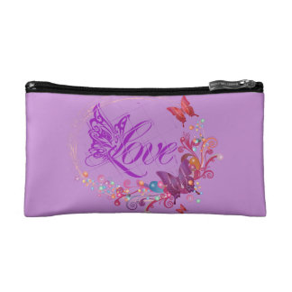 Butterfly love cosmetic bags