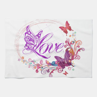 Butterfly love kitchen towels