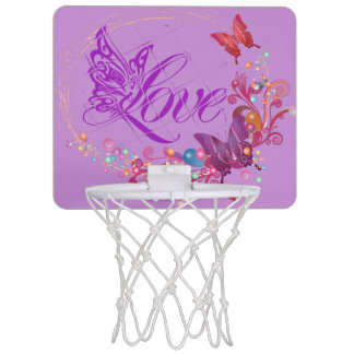 Butterfly love mini basketball hoop