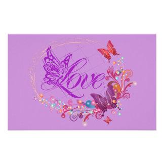 Butterfly love stationery