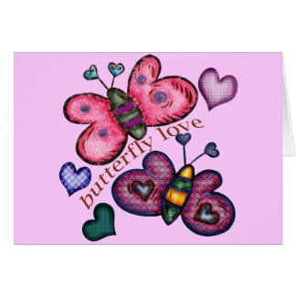 Butterfly Love T-shirts and Gifts For Her Greeting Card