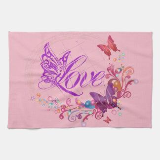 Butterfly love towels