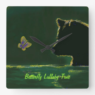 Butterfly Lullaby Time Wall Clock