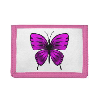 Butterfly_magenta Tri-fold Wallet