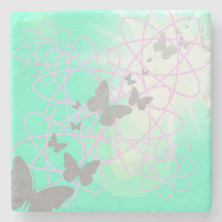 Butterfly Marble Stone Coaster