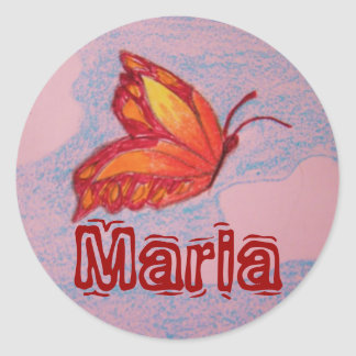 butterfly, Maria sticker