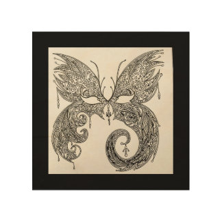 Butterfly Masquerade Mask Wood Wall Decor