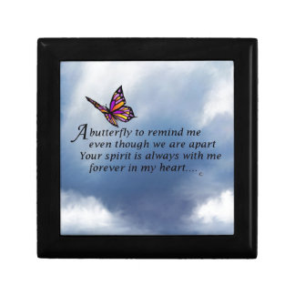 Butterfly Memorial Poem Gift Box