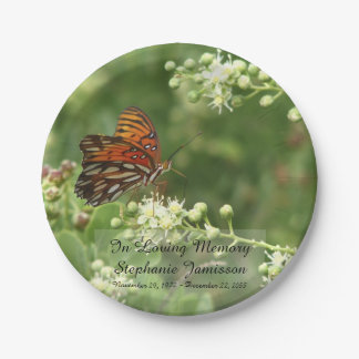 Butterfly, Memorial Service Paper Plates